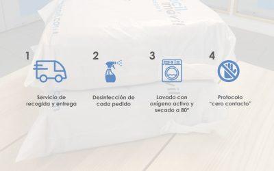 Desinfección de la ropa en el servicio a domicilio